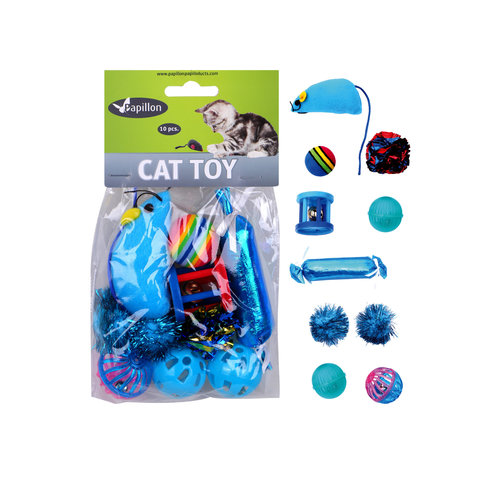 Papillon Cat Spielzeug-Set 10-tlg.