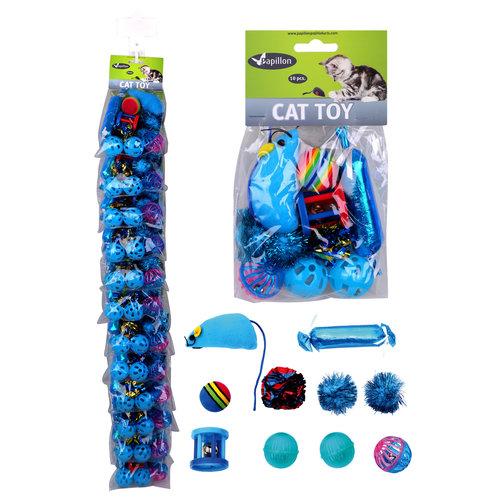 Papillon Clip Katze Spielzeug-Set 10-tlg.