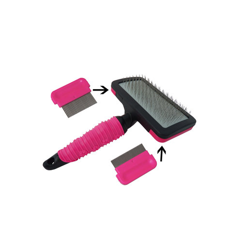 Papillon Brush 3 in 1 with two combs