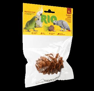 RIO Cedar cone. Natural treat for birds, 1 piece
