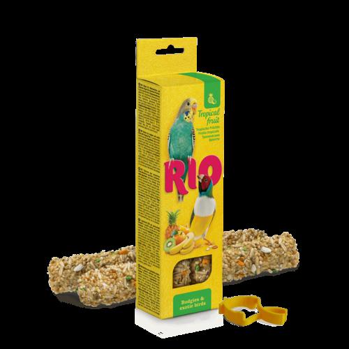 RIO RIO Bâtonnets pour perruches et oiseaux exotiques aux fruits tropicaux, 2x40 g