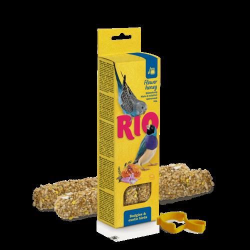 RIO RIO Bâtonnets pour perruches et oiseaux exotiques au miel, 2x40 g