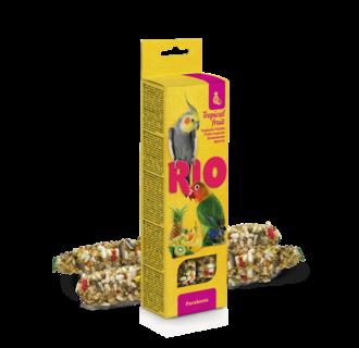 RIO Bâtonnets pour perruches avec fruits tropicaux, 2x75 g