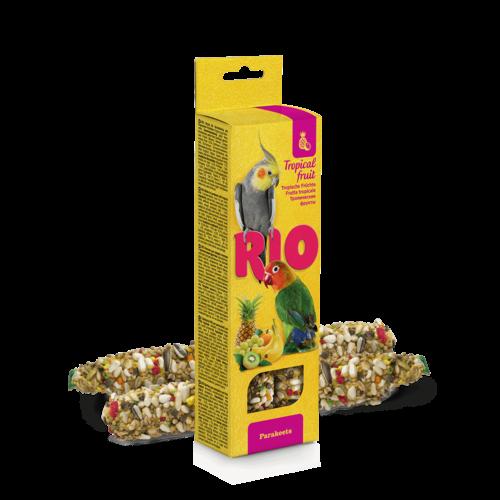 RIO RIO Bâtonnets pour perruches avec fruits tropicaux, 2x75 g
