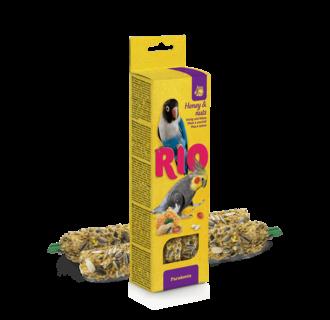 RIO Sticks voor parkieten met honing en noten, 2x75 g