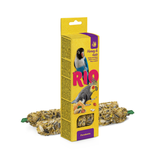 RIO RIO Sticks for parakeets with honey and nuts, 2x75 g