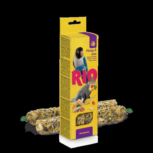 RIO RIO Sticks voor parkieten met honing en noten, 2x75 g
