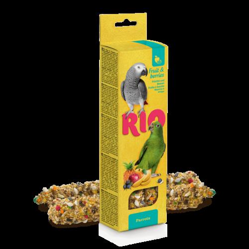 RIO RIO Bâtonnets pour perroquets avec des fruits et des baies, 2x90 g