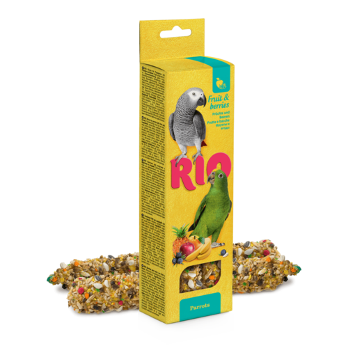 RIO RIO Sticks for parrots with fruit and berries, 2x90 g