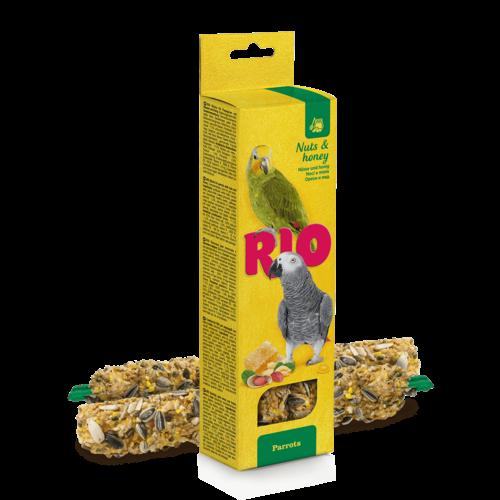 RIO RIO Bâtonnets pour perroquets aux noix et miel, 2x90 g