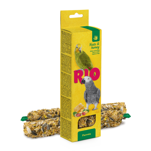 RIO RIO Sticks für Papageien mit Honig und Nüssen, 2x90 g