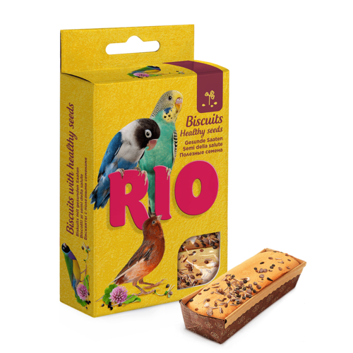 RIO RIO Biscuits for all birds with healthy seeds, 5x7 g