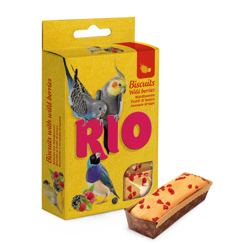RIO RIO Biscuits for all birds with wild berries, 5x7 g