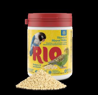 RIO Vitamin & Mineral Pellets für Wellensittiche und Großsittiche, 120 g