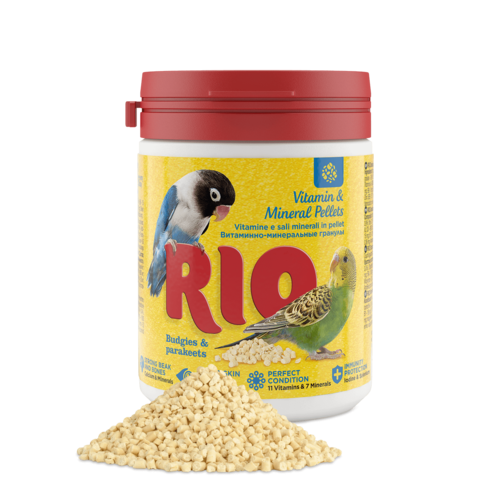 RIO RIO Vitamin and mineral pellets for budgies and parakeets, 120 g
