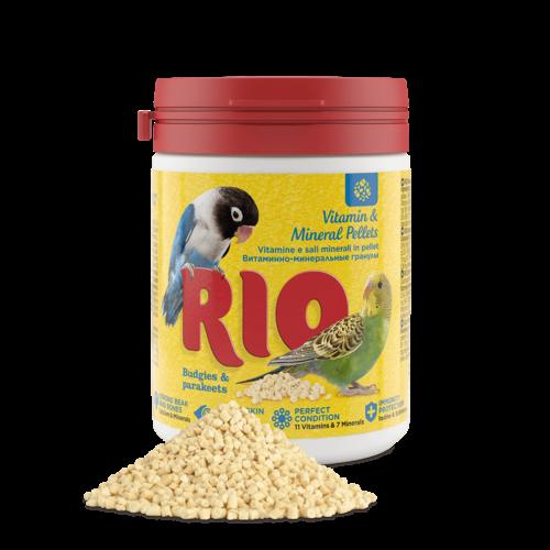RIO RIO Vitamin & Mineral Pellets für Wellensittiche und Großsittiche, 120 g