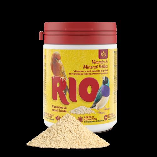 RIO RIO Vitamin & Mineral Pellets für Kanarien, Exoten und andere kleine Vögel, 120 g
