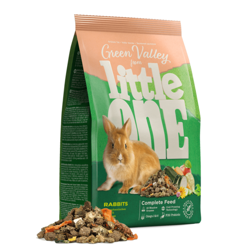 """Little One Little One """"Green valley"""". Fibrefood for rabbits, 750 g"""