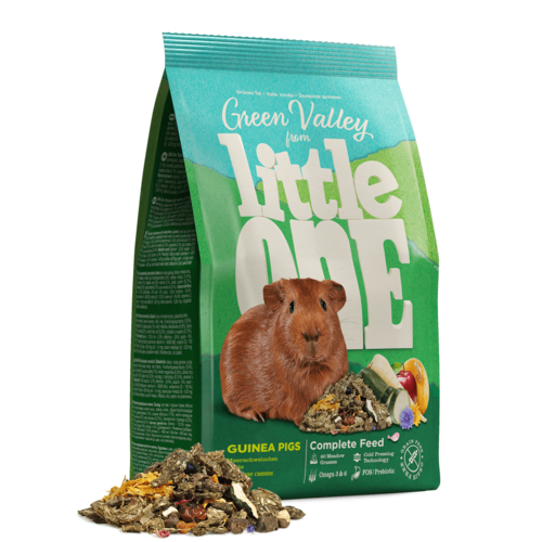 """Little One Little One """"Green valley"""". Fibrefood for guinea pigs, 750 g"""