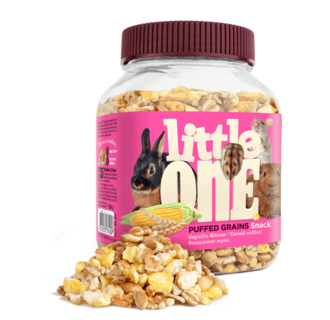 Little One Puffed grains. Snack for all small mammals, 100 g