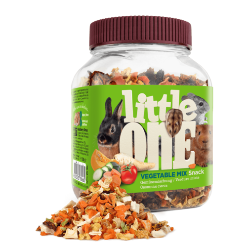 Little One Little One Vegetable mix. Snack for all small mammals, 150 g