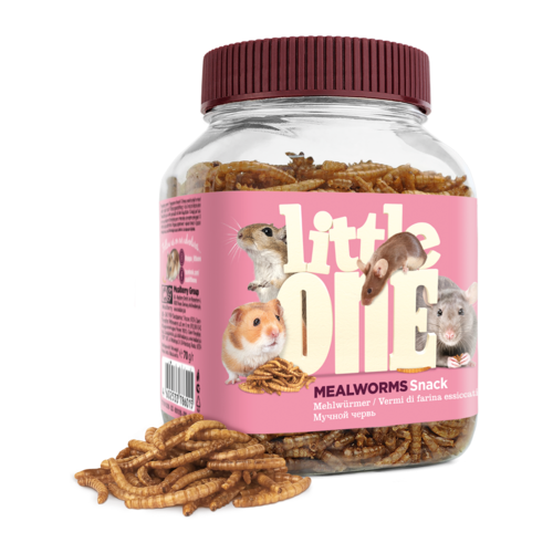 Little One Little One Mealworms. Snack for omnivores small mammals, 70 g