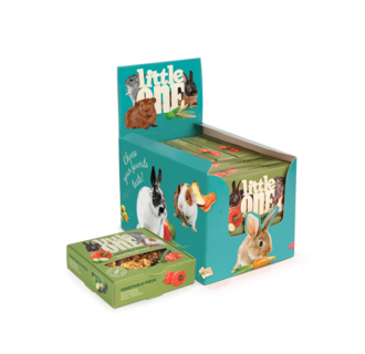 Little One Vegetable pizza. Treat-toy for all small mammals, 6x55 g