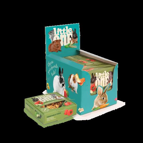 Little One Little One Gemüsepizza. Spielzeugleckerli für alle kleinen Säugetiere, 6x55 g