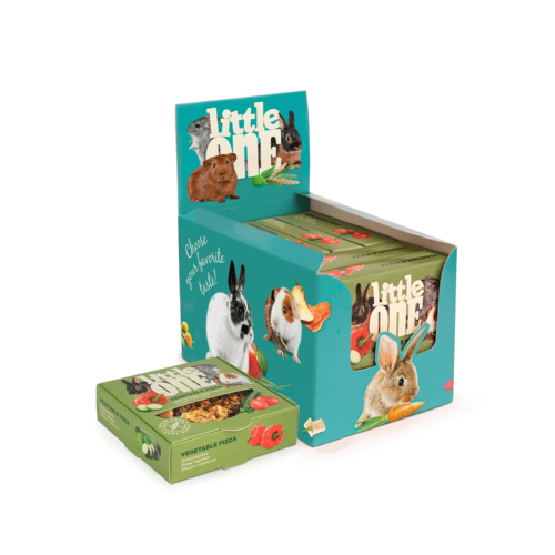 Little One Little One Vegetable pizza. Treat-toy for all small mammals, 6x55 g