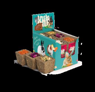 Little One Smakelijke schaal van weidegrassen (Appel, Wortel, Pastinaak, Pompoen, Rozenknoppen, Courgette), 12x65 g