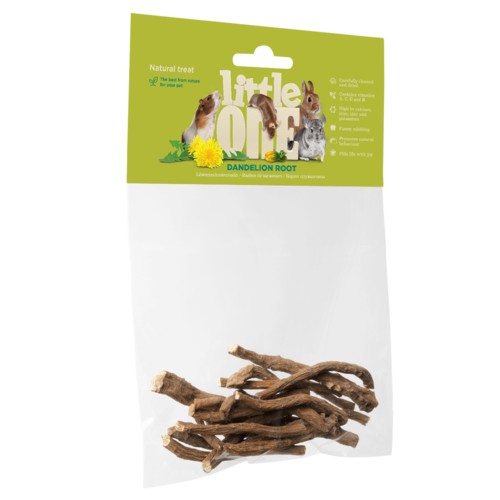 Little One Little One Dandelion root. Natural treat for all small mammals, 35 g