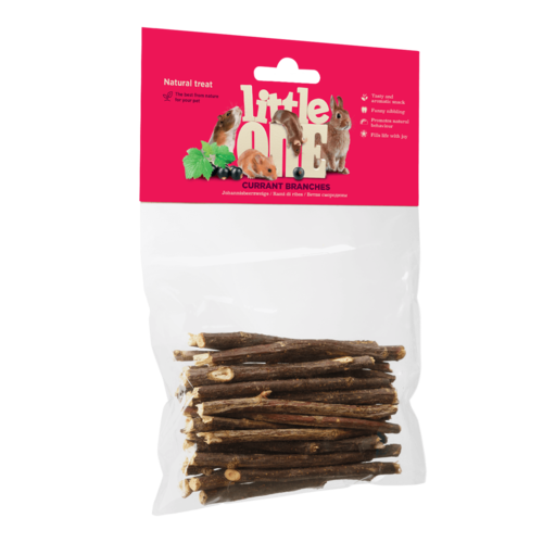 Little One Little One Currant branches. Natural treat for all small mammals, 50 g