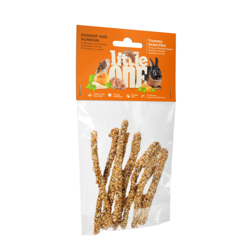 Little One Little One Yummy branches with parsnip and pumpkin. Snack for all small mammals, 35 g
