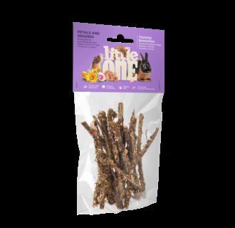 Little One Yummy Zweige mit Blüten und Gräsern. Snack für alle kleinen Säugetiere, 35 g