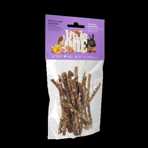 Little One Little One Yummy Zweige mit Blüten und Gräsern. Snack für alle kleinen Säugetiere, 35 g