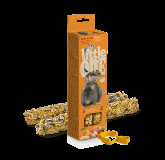 Little One Bâtonnets pour hamsters, rats, souris et gerbilles <br /> aux fruits et aux noix, 2x60 g
