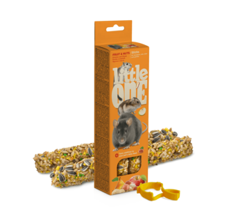Little One Sticks for hamsters, rats, mice and gerbils with fruit and nuts, 2x60 g