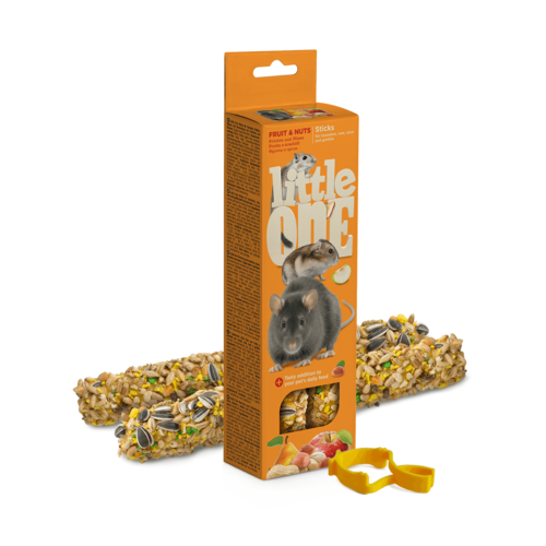Little One Little One Sticks for hamsters, rats, mice and gerbils with fruit and nuts, 2x60 g