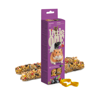 Little One Sticks for hamsters, rats, mice and gerbils with berries, 2x60 g