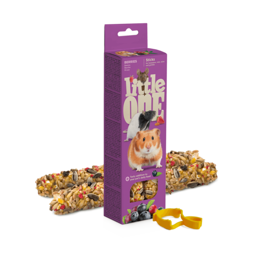 Little One Little One Sticks for hamsters, rats, mice and gerbils with berries, 2x60 g