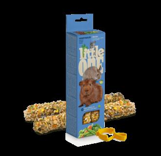 Little One Bâtonnets pour cochons d'Inde, lapins et chinchillas aux légumes, 2x60 g
