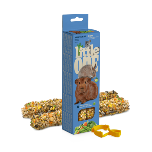 Little One Little One knabbelsticks voor cavia's, konijnen en chinchilla's met groenten, 2x60 g