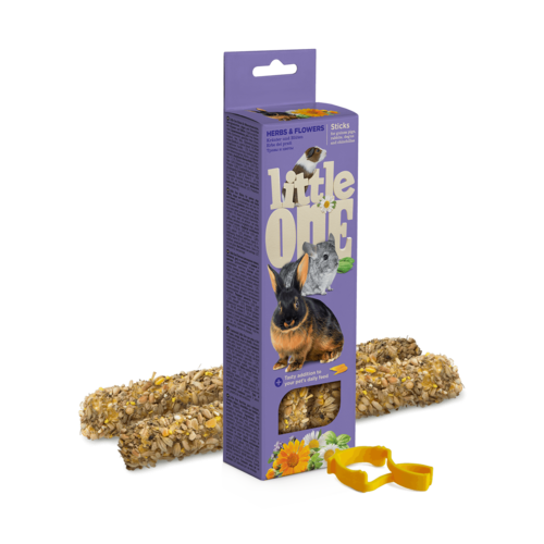Little One Little One Sticks for guinea pigs, rabbits and chinchillas with herbs and flowers, 2х55 g
