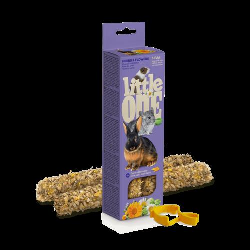 Little One Little One Sticks für Meerschweinchen, Zwergkaninchen und Chinchillas mit Kräutern und Blüten, 2x55 g
