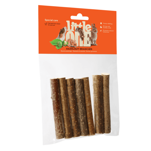 Little One Little One Nibble hazelnut branches. Option for grinding down teeth, 7 psc