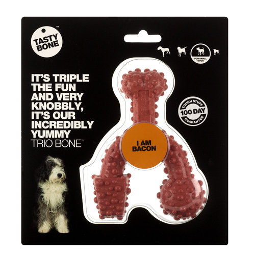 Rudolph Petsupplies Tasty Bone Trio Bone bacon