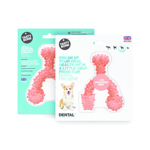 Rudolph Petsupplies Dental Trio Bone - Zimt & Mint