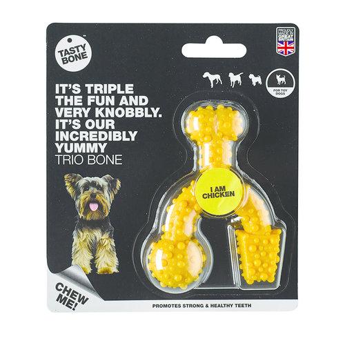 Rudolph Petsupplies Savoureux os Trio d'os de poulet Toy