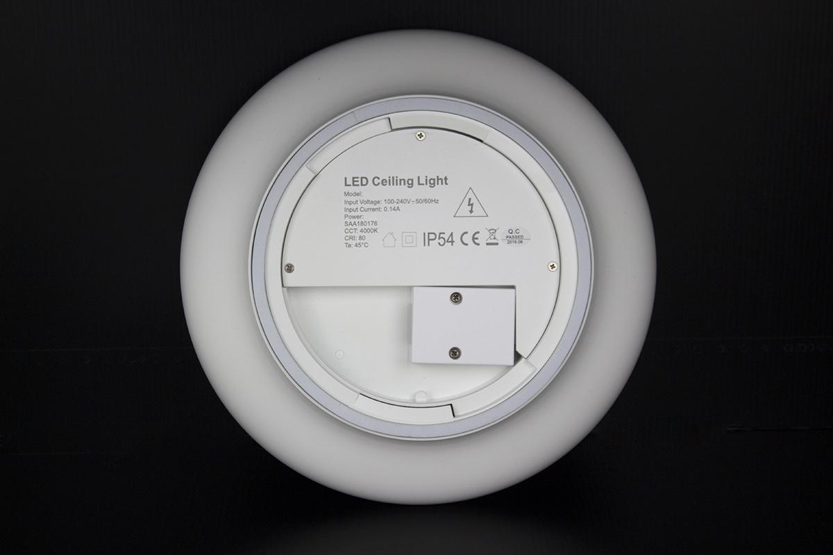 Plafondlamp LED Ø25cm, 12W, IP54