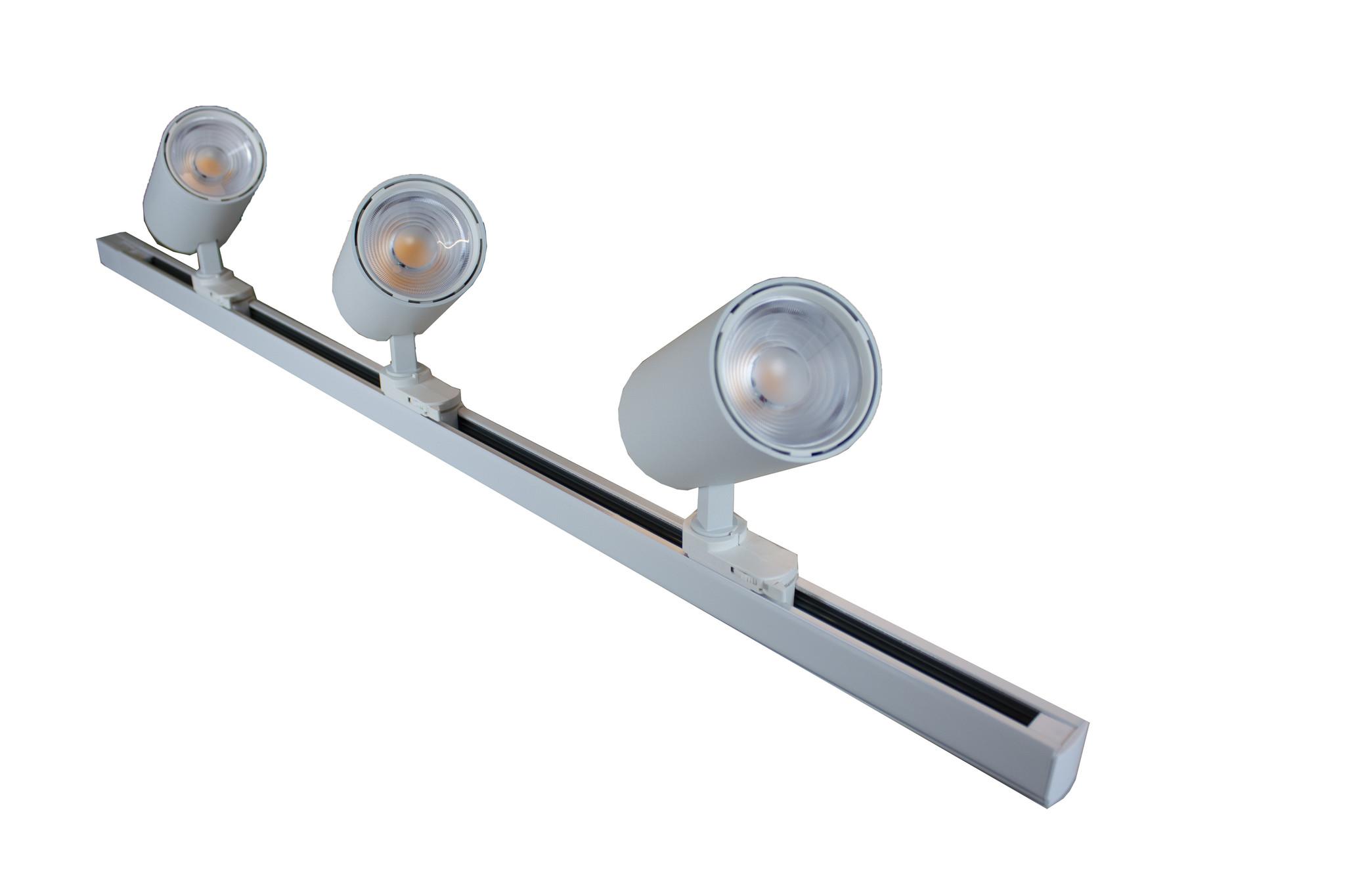 Tracklight LED F2 Serie 25W, 3000K, Wit, Set 3 stuks